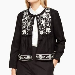 Kate Spade NWT Birds Embroidered Linen Jacket